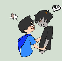 KARKAT YOU ARE SO MAD. by Adoxographist