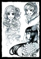 sketches girls by Rinmeothichca
