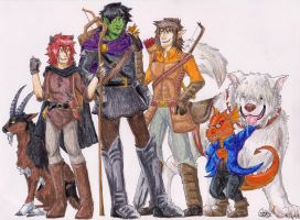 Pathfinder - Awesome Band of Heroes by Gomis