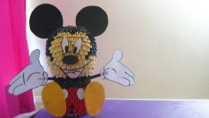 3D Origami Mickey Mouse by iBeautyLovely