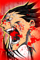 Zaraki Kenpachi raging by T1A60