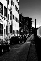 silhouette in the street by electrickery