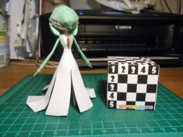 Gardevoir Papercraft 5th Reduction by gardevoir7