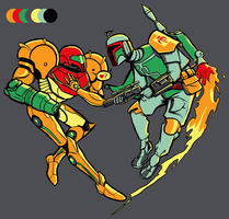 Boba Heart Samus by AlyssaWiggen