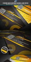 25 degree Quick Response Business Card by Lemongraphic