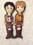 Jean and Marco Plush by craftskrieg