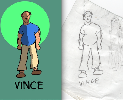 Inking Vince by Vitchard