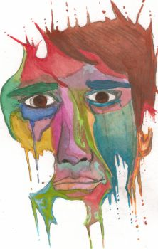 Water color self portrait by Shukibaby