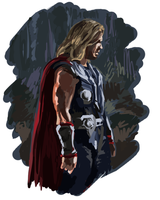 Thor color study by pai-draws