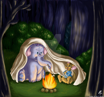 Campfire - Commission by DizzieDoodles
