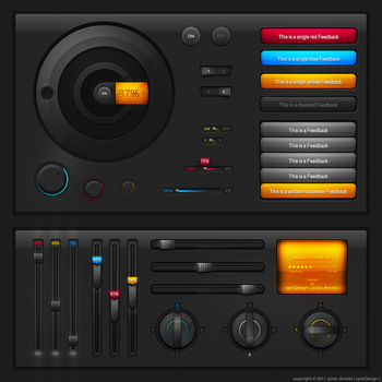Tech UI elements by cyrixDesign