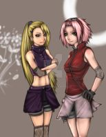 Sakura and Ino by buuzen