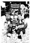 Judge Dredd and Judge Anderson by Leomatos2014