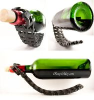 Chain Wine Bottle Holder by isolatedreality