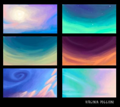 Color studies by Shadla