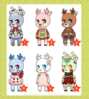 holiday deer SALE! - 1 left $4 by NauticalSparrow