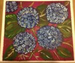 Hydrangea oil painting on canvas by Dass25