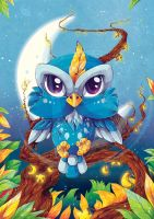 Moonlight Owl by tikopets
