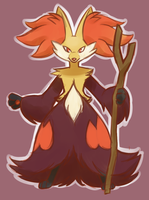Delphox by TheRaspberryFox