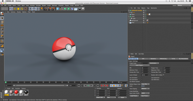 Cinema 4D Pokebal by Catstudio7