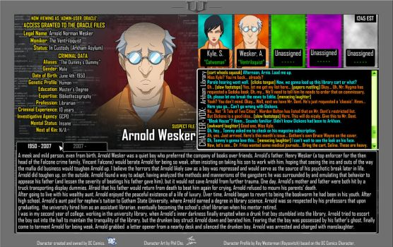 Oracle Files - Arnold Wesker by Roysovitch