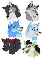 Wolf Doodles by WindWo1f