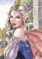 Lavender Fairy ACEO by NicoleCadet
