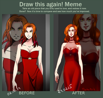Draw this again meme by Marta-Bit