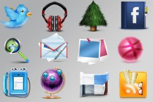 free detailed social media icons by FreeIconsFinder