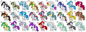 {Free} Adoptables Sheet 2 {Closed} by Shadowgirl12332