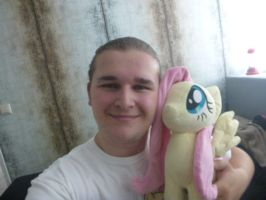 Me and Fluttershy, together for a year by verolesh