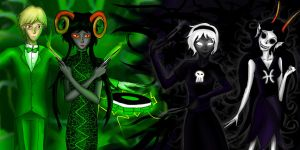 Green and Black by Elycien