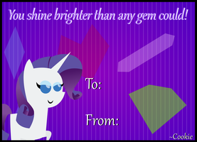 Rarity Valentine's Day Card by The-Queen-Of-Cookies
