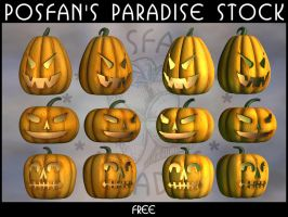 Jack O'Lanterns 001 by poserfan-stock