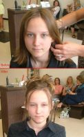 Prom Hair Before and After by AzalieUzumaki