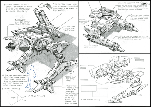 Unmanned tank type2 drawing by 4-X-S