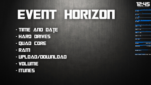 Event Horizon Rainmeter by Thyrring