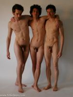 Three Standing Male Nudes by Felixdeon