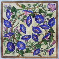 Morning Glory Needlepoint by HouseofChabrier
