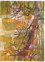 Bamboo with Rocks by mLeeFineArt