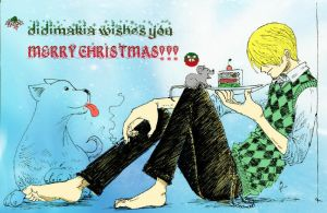 Sanji Christmas Signature by didimakia