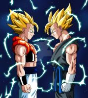 Vegetto And Gogeta by albertocubatas