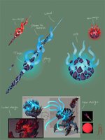 Abyssal Magic weapons by WachiSanTV