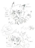 Tiechi and Scarlet upset over shoes really by Kittychan2005