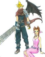 KH Cloud and Aerith by Naerko