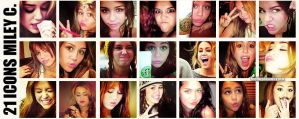 21icons Miley Cyrus by feelingnewoxygen