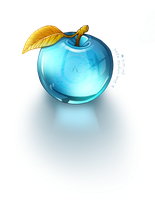 Blue Crystal Apple by Adroth-Rian