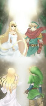Skyward Sword: Present meets Past by Zelbunnii
