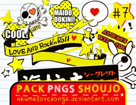 Pack 7 Pngs Shoujo by akumaLoveSongs