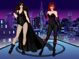 X-Girls Nocturne and Nightshade by BethanyHunter